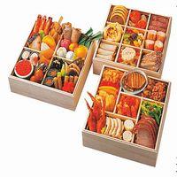 [京都三千院の里&マノワール&彩宴]和洋中コラボ 三段重のおせち